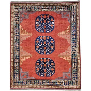 Antiqued Khotan Natural Dyes Pure Wool Hand-knotted Rug (8'2 x 10')