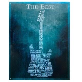 Vintage Metal Art 'The Best Guitarist' Decorative Tin Sign