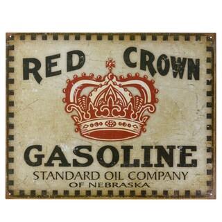 Vintage Metal Art 'Red Crown' Decorative Tin Sign