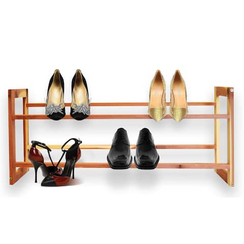 Aromatic Cedar Shoe Rack A120 - 2-Tier