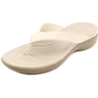 Crocs Women's 'Capri IV Flip' Leather Sandals