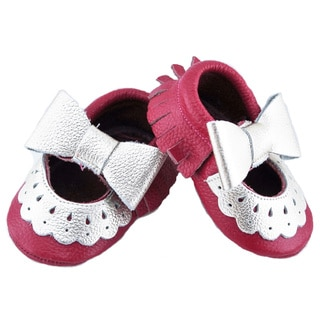 Genuine Leather Hot Pink Mary Jane Baby/ Toddler Moccasin 18 - 24 Month Shoes