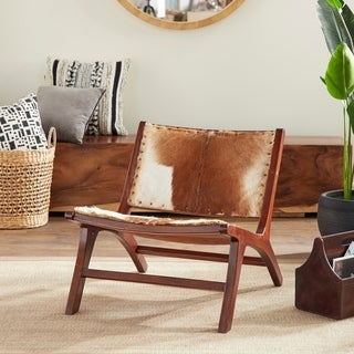 Teak Hide Lounge Chair