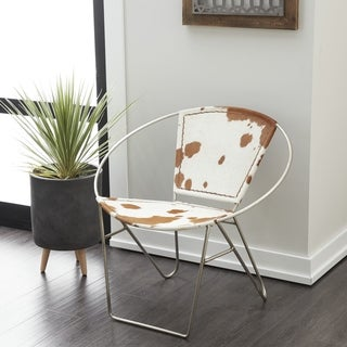 Metal Hide Leather Chair