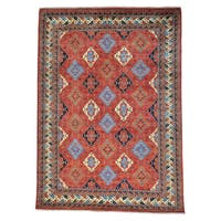 Afghan Ersari Geometric All Over Design Handmade Rug (10' x 14')
