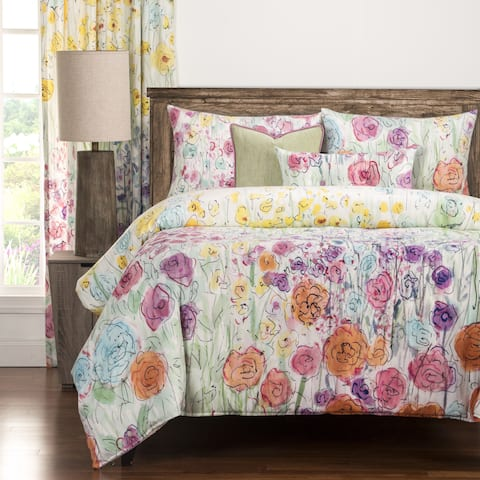 The Curated Nomad Bransten Floral 6-piece Duvet Cover Set