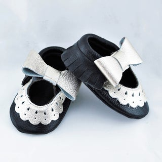 Genuine Leather Black Mary Jane Baby/ Toddler Moccasin 18-24 Month Shoes