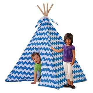 Discovery Kids Blue Canvas Play Teepee|https://ak1.ostkcdn.com/images/products/11488622/P18442107.jpg?impolicy=medium