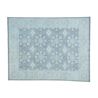 Lattice Design Oushak Pure Wool Hand-knotted Oriental Rug (7'9 x 10')