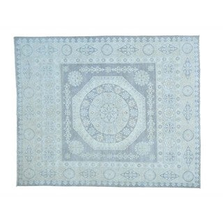 Hand-knotted Silver Wash Mamluk Pure Wool Oriental Rug (8' x 9'7)