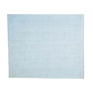 White Wash Oushak Hand-knotted Pure Wool Oriental Rug (8'4 x 9'8)