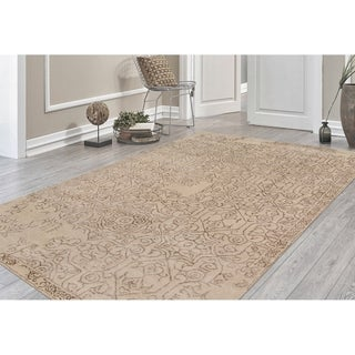 Hand-tufted Saint Thomas Sand Blended New Zealand Wool and Art Silk Rug (8' x 11')