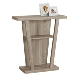 Dark Taupe Hall Console Table