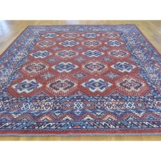 Afghan Ersari Repetitive Design Hand-knotted Oriental Rug (8'1 x 9'9)