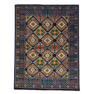 Afghan Ersari Geometric Design Hand-knotted Oriental Rug (8' x 10'6)