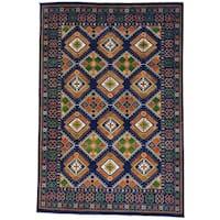 Geometric Design Afghan Ersari Hand-knotted Oriental Rug (10' x 14'6)