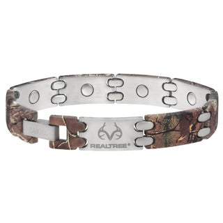 Sabona Realtree Camo Stainless Sport Magnetic Bracelet