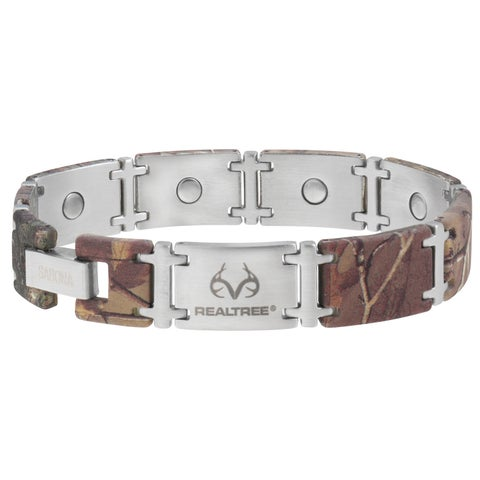 Sabona Realtree Camo Stainless Magnum Magnetic Bracelet