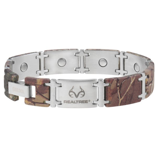 Sabona Realtree Camo Stainless Magnum Magnetic Bracelet