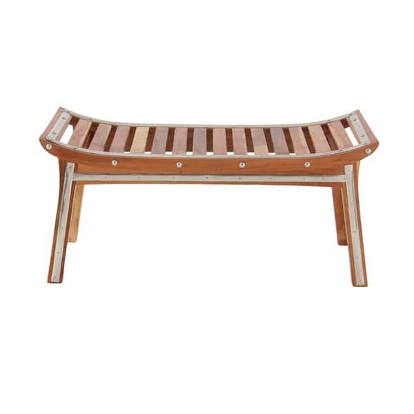 Sensational Shop Traditional 19 X 40 Inch Wood And Iron Strip Bench By Ibusinesslaw Wood Chair Design Ideas Ibusinesslaworg