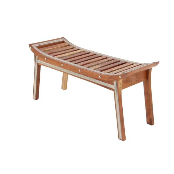 Astonishing Shop Traditional 19 X 40 Inch Wood And Iron Strip Bench By Ibusinesslaw Wood Chair Design Ideas Ibusinesslaworg