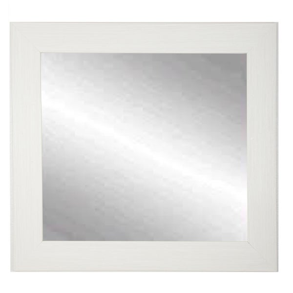 BrandtWorks Oyster Shell Cream 32-inch Square Wall Mirror - oyster cream