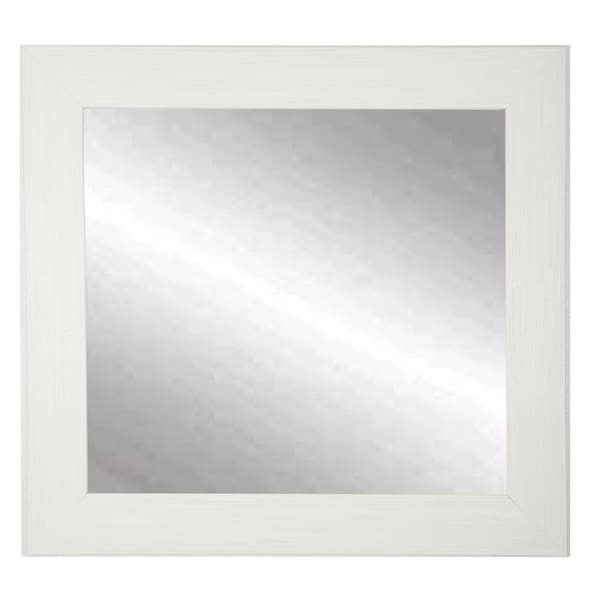 BrandtWorks Oyster Shell Cream 32-inch Square Wall Mirror - oyster cream - oyster cream