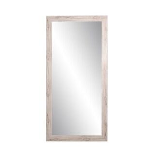 BrandtWorks Farmhouse Cream 32 x 71 - Inch Tall Rectangular Mirror - Brown/Ivory - 32 x 71