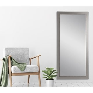 BrandtWorks Aged Silver Lined 31.5 x 70.5 - Inch Tall Mirror - Nickel
