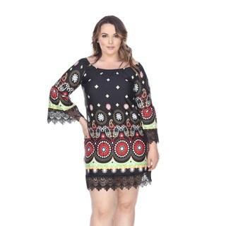 White Mark Women's Plus Size 'Rakel' Dress