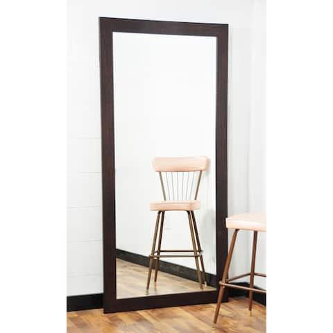 BrandtWorks Walnut Brown 32 x 71 - Inch Tall Rectangular Mirror