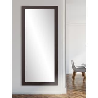 Pro Black Rectangular Leaning Floor Mirror