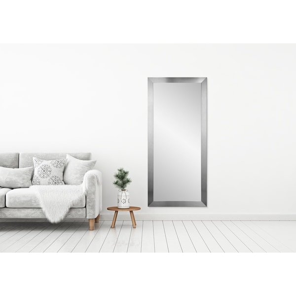 BrandtWorks Grand Silvertone Leaning 32 x 71 - Inch Floor Mirror - Silver - 32 x 71