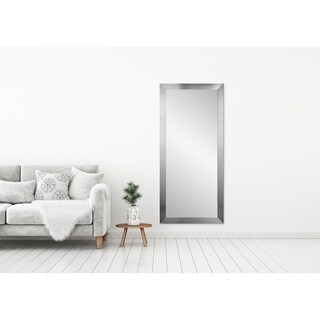 BrandtWorks Grand Silvertone Leaning 32 x 71 - Inch Floor Mirror - Silver