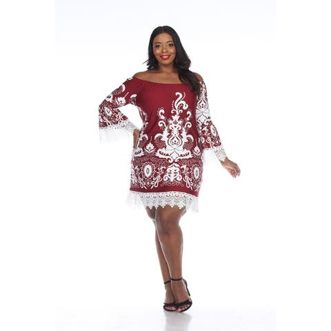 White Mark Women's Plus Size 'Uniss' Dress