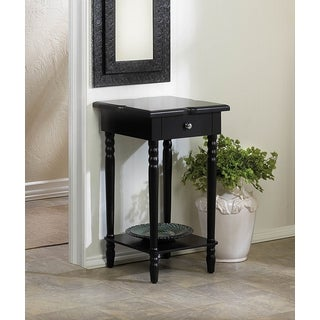 Lotus Single-Drawer Wooden Accent Table