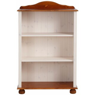 Mette Solid Pine Low 2-Shelf Bookcase