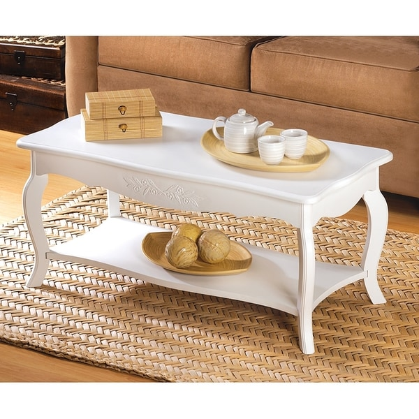 Hartford Country Stlye White Coffee Table On Free Shipping Today 11489045