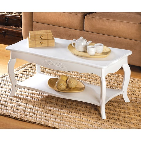 Hartford Country Stlye White Coffee Table