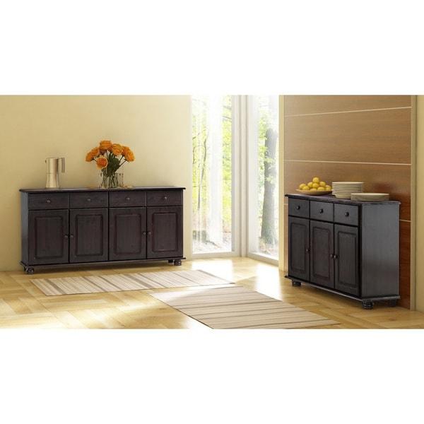 Shop Mette Solid Pine 4-door 3-drawer Sideboard