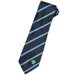 Versace 100-percent Italian Silk Blue/ Green Stripes Neck Tie