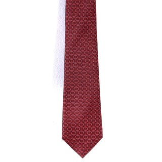 Davidoff 100-percent Silk Red Circle Neck Tie