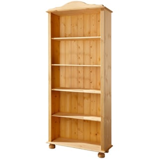 Mette Solid Pine High Bookcase