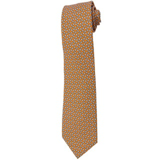 Davidoff 100-percent Silk Orange Sunglass Pattern Neck Tie