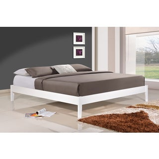 Altozzo Manhattan White Eco-friendly Solid Wood King-size Platform Bed