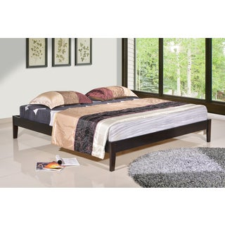 Altozzo Manhattan King-size Solid Wood Espresso Platform Bed