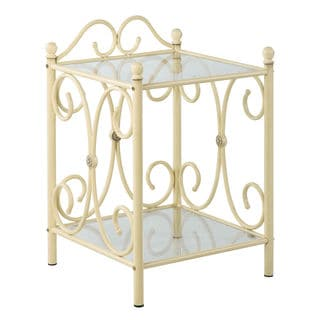 Juliette 2-tier Scroll Nightstand