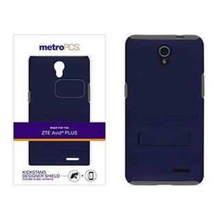 metroPCS Designer Kickstand Shield with Screen Protector Case for ZTE AVID PLUS