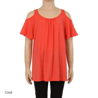 MOA Collection Kids' Jersey Knit Top with Cutout Shoulders
