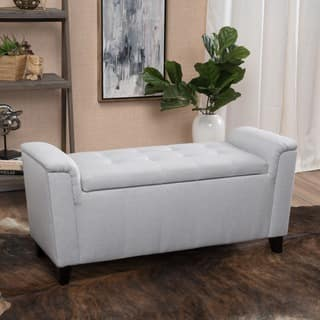 ottomans for living room. Alden Tufted Fabric Armed Storage Ottoman Bench by Christopher Knight Home  2 options available Ottomans For Less Overstock com